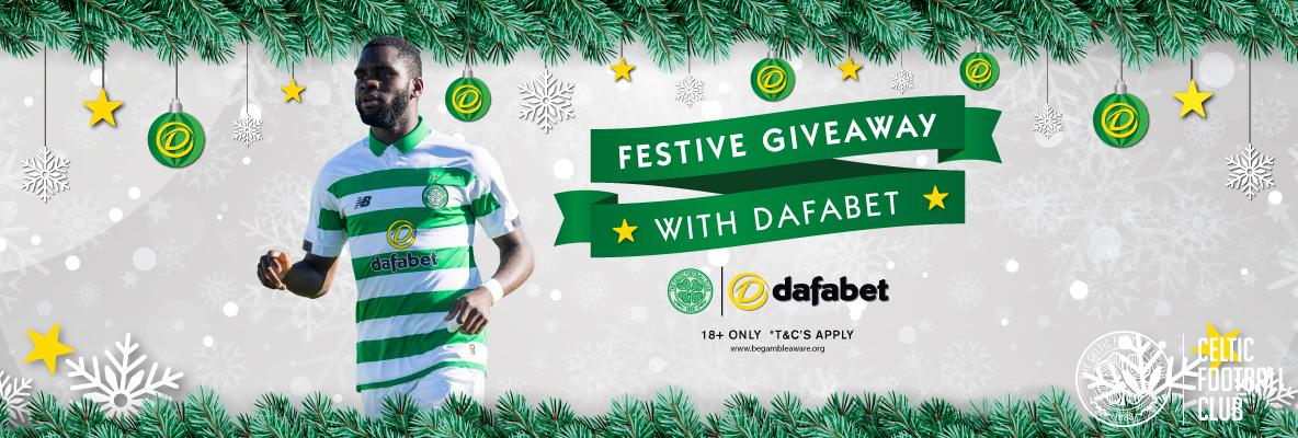 Festive giveaway with main club sponsor Dafabet